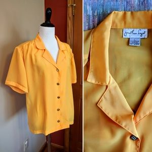 Vintage Jonathan Logan silky orange shirt